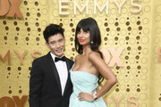 (L-R) Manny Jacinto and Jameela Jamil attends the 71st Emmy Awards at Microsoft Theater on September 22, 2019 in Los Angeles, California.