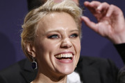 Kate McKinnon poses in the press room during the 71st Emmy Awards at Microsoft Theater on September 22, 2019 in Los Angeles, California.