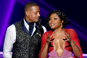 This image is a retransmission)  Terrence Howard and Taraji P. Henson speak onstage during the 71st Emmy Awards on September 22, 2019 in Los Angeles, California.