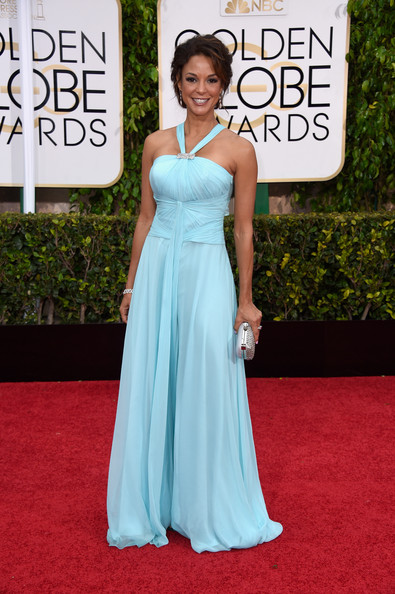 Actress Eva LaRue attends the 72nd Annual Golden Globe Awards at The Beverly Hilton Hotel on January 11, 2015 in Beverly Hills, California.