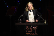 Amy Poehler speaks onstage at the 72nd Writers Guild Awards at Edison Ballroom on February 01, 2020 in New York City.