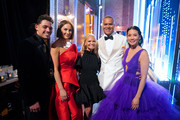Anthony Ramos, Laura Benanti, Kristin Chenoweth, Christopher Jackson and Lucy Liu pose backstage during the 73rd Annual Tony Awards at Radio City Music Hall on June 09, 2019 in New York City.
