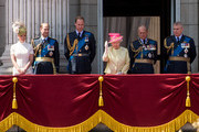 (L-R) Sophie, Countess of Wessex, Prince Edward, Earl of Wessex, Prince William, Duke of Cambridge, Queen Elizabeth II, Prince Philip, Duke of Edinburgh and  Prince Andrew, Duke of York watch the flypast from the balcony of Buckingham Palace to commemorate the 75th Anniversary of The Battle of Britain on July 10, 2015 in London, England.