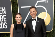 Seth Meyers and Alexi Ashe attend The 75th Annual Golden Globe Awards at The Beverly Hilton Hotel on January 7, 2018 in Beverly Hills, California.