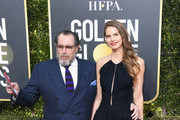 Julian Schnabel (L) and Louise Kugelberg  attends the 76th Annual Golden Globe Awards at The Beverly Hilton Hotel on January 6, 2019 in Beverly Hills, California.