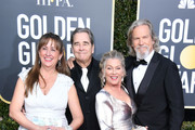 Wendy Treece, Beau Bridges, Susan Geston and Jeff Bridges attend the 76th Annual Golden Globe Awards at The Beverly Hilton Hotel on January 6, 2019 in Beverly Hills, California.