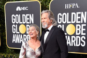 Susan Geston (L) and Jeff Bridges attend the 76th Annual Golden Globe Awards at The Beverly Hilton Hotel on January 6, 2019 in Beverly Hills, California.