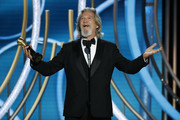 In this handout photo provided by NBCUniversal,  Jeff Bridges accepts the Cecil B. Demille Award  onstage during the 76th Annual Golden Globe Awards at The Beverly Hilton Hotel on January 06, 2019 in Beverly Hills, California.