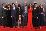 (L-R) Actors Michael Zegen, Marin Hinkle, Producer Daniel Palladino, Writer and Producer Amy Sherman-Palladino, Amazon Studios Head of Drama Series Marc Resteghini, Actor Rachel Brosnahan, Amazon Studios Co-Head of Television Albert Cheng, and Head of Amazon Studios Jennifer Salke attend The 77th Annual Peabody Awards Ceremony at Cipriani Wall Street on May 19, 2018 in New York City.