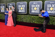 (L-R) Lee Jeong-eun, Cho Yeo-jeong, Song Kang-ho, and Janina Gavankar attend the 77th Annual Golden Globe Awards at The Beverly Hilton Hotel on January 05, 2020 in Beverly Hills, California.