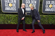 (L-R) Bernie Taupin and Ellen DeGeneres attend the 77th Annual Golden Globe Awards at The Beverly Hilton Hotel on January 05, 2020 in Beverly Hills, California.