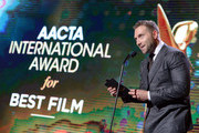 Jai Courtney speaks onstage at the 7th AACTA International Awards at Avalon Hollywood in Los Angeles on January 5, 2018 in Hollywood, California.