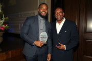 Honorees directors Ryan Coogler (L) and John Singleton attend the 7th Annual AAFCA Awards on February 10, 2016 in Los Angeles, California.