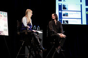 Amy Astley (L) and Designer Olivier Theyskens attend Teen Vogue Fashion University at the Hudson Theatre on October 20, 2012 in New York City.