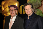 Actors Geoffrey Rush (L) and Colin Firth arrive at the 83rd Academy Awards nominations luncheon held at the Beverly Hilton Hotel on February 7, 2011 in Beverly Hills, California.