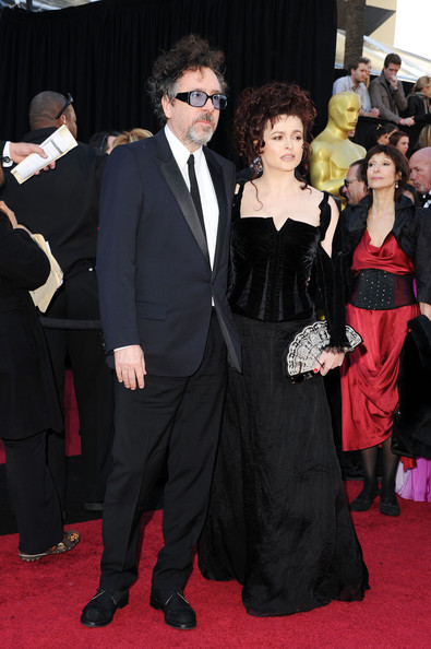 Director Tim Burton (L) and actress Helena Bonham Carter arrive at the 83rd Annual Academy Awards held at the Kodak Theatre on February 27, 2011 in Hollywood, California.