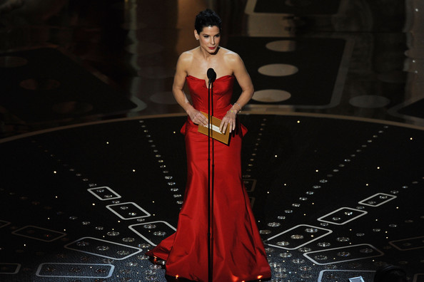 Presenter Sandra Bullock speaks onstage during the 83rd Annual Academy Awards held at the Kodak Theatre on February 27, 2011 in Hollywood, California.