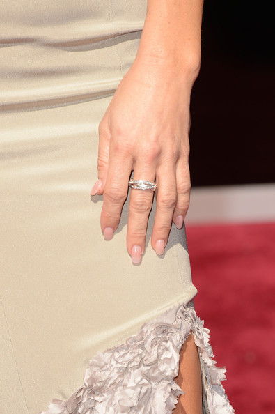 Actress Veronica Ferres (ring detail) attends the Oscars at Hollywood & Highland Center on February 24, 2013 in Hollywood, California.