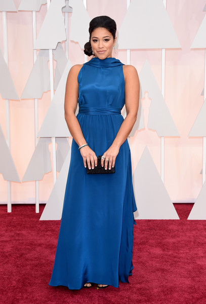 Actress Gina Rodriguez attends the 87th Annual Academy Awards at Hollywood & Highland Center on February 22, 2015 in Hollywood, California.