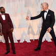 Michael Keaton and David Oyelowo looked like they were ready for a dance-off.
