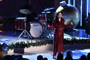 Lea Michele performs onstage at the 87th Annual Rockefeller Center Christmas Tree Lighting Ceremony at Rockefeller Center on December 04, 2019 in New York City.