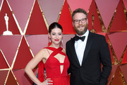 Actors Lauren Miller and Seth Rogen attend the 89th Annual Academy Awards at Hollywood & Highland Center on February 26, 2017 in Hollywood, California.