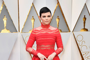 Ginnifer Goodwin in High-Neck Red Lace - The Best Dressed Celebs at the 2017 Academy Awards