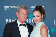 (L-R) David Foster and Katharine McPhee attend the 8th Annual Breakthrough Prize Ceremony at NASA Ames Research Center on November 03, 2019 in Mountain View, California.