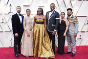 (L-R) Michael B. Jordan, Letitia Wright, Danai Gurira and Winston Duke attend the 91st Annual Academy Awards at Hollywood and Highland on February 24, 2019 in Hollywood, California.