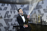 Rami Malek, winner of the Actor in a Leading Role award for 'Bohemian Rhapsody,' attends the 91st Annual Academy Awards Governors Ball at Hollywood and Highland on February 24, 2019 in Hollywood, California.