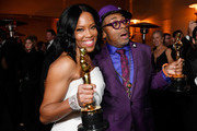 (L-R) Regina King, winner of the Actress in a Supporting Role award for 'If Beale Street Could Talk,' and Spike Lee, winner of the Adapted Screenplay award for ''BlacKkKlansman,' attend the 91st Annual Academy Awards Governors Ball at Hollywood and Highland on February 24, 2019 in Hollywood, California.