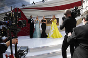 (L-R) Billy Porter, Elaine Welteroth, Ashley Graham, and Maria Menounos attend the 91st Annual Academy Awards at Hollywood and Highland on February 24, 2019 in Hollywood, California.