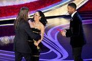 (L-R) Tessa Thompson and Michael B. Jordan present the Best Original Score award for 'Black Panther' to Ludwig Goransson onstage during the 91st Annual Academy Awards at Dolby Theatre on February 24, 2019 in Hollywood, California.