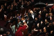 Keegan-Michael Key is lowered to the floor during the 91st Annual Academy Awards at Dolby Theatre on February 24, 2019 in Hollywood, California.
