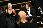 (L-R) Lady Gaga, Irina Shayk and Bradley Cooper during the 91st Annual Academy Awards at Dolby Theatre on February 24, 2019 in Hollywood, California.