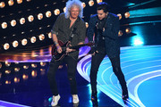 Adam Lambert (L) and Brian May of Queen perform onstage during the 91st Annual Academy Awards at Dolby Theatre on February 24, 2019 in Hollywood, California.