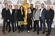 (L-R) Nominees Skye Fitzgerald, Marshall Curry, Jeffrey Friedman, Melissa Berton, Rayka Zehtabchi, Bryn Mooser, Rob Epstein, Ed Perkins, and Jonathan Chinn attend 91st Oscars - Oscar Week: Documentaries at the Academy of Motion Picture Arts and Sciences on February 19, 2019 in Beverly Hills, California.