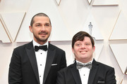 (L-R) Shia LaBeouf and Zack Gottsagen attends the 92nd Annual Academy Awards at Hollywood and Highland on February 09, 2020 in Hollywood, California.