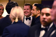 In this handout photo provided by A.M.P.A.S. James Corden and Rami Malek stand backstage during the 92nd Annual Academy Awards at the Dolby Theatre on February 09, 2020 in Hollywood, California.