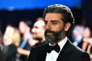 In this handout photo provided by A.M.P.A.S. Oscar Isaac looks on backstage during the 92nd Annual Academy Awards at the Dolby Theatre on February 09, 2020 in Hollywood, California.