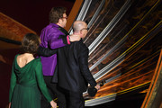 (L-R) Sigourney Weaver as Elton John and Bernie Taupin accept the Music - Original Song - award for 'I'm Gonna Love Me Again' from 'Rocketman' onstage during the 92nd Annual Academy Awards at Dolby Theatre on February 09, 2020 in Hollywood, California.