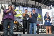 """Erick Villegas, Danni Starr, Kane, and Rose of The Kane Show onstage at 93.3 FLZ's Jingle Ball """"Pre-Show Free Show"""", 93.3 FLZ's Jingle Ball 2014 official pre-show at Amalie Arena on December 22, 2014 in Tampa, Florida."""