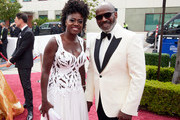 LOS ANGELES, CALIFORNIA – APRIL 25: (EDITORIAL USE ONLY) In this handout photo provided by A.M.P.A.S., (L-R) Viola Davis and Julius Tennon attend the 93rd Annual Academy Awards at Union Station on April 25, 2021 in Los Angeles, California.