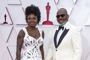 LOS ANGELES, CALIFORNIA – APRIL 25: (L-R) Viola Davis and Julius Tennon attend the 93rd Annual Academy Awards at Union Station on April 25, 2021 in Los Angeles, California.