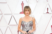 LOS ANGELES, CALIFORNIA – APRIL 25: (EDITORIAL USE ONLY) In this handout photo provided by A.M.P.A.S., Margot Robbie attends the 93rd Annual Academy Awards at Union Station on April 25, 2021 in Los Angeles, California.