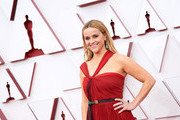 LOS ANGELES, CALIFORNIA – APRIL 25: (EDITORIAL USE ONLY) In this handout photo provided by A.M.P.A.S., Reese Witherspoon attends the 93rd Annual Academy Awards at Union Station on April 25, 2021 in Los Angeles, California.