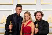 LOS ANGELES, CALIFORNIA – APRIL 25: (EDITORIAL USE ONLY) In this handout photo provided by A.M.P.A.S., (L-R) Will McCormack, Reese Witherspoon, and Michael Govier winners of the Animated Short Film award for 'If Anything Happens I Love You' poses in the press room during the 93rd Annual Academy Awards at Union Station on April 25, 2021 in Los Angeles, California.