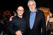 Kim Ledger (L) and  Director Phillip Noyce attend the 9th Annual Australians In Film Heath Ledger Scholarship Dinner at Sunset Marquis Hotel on June 1, 2017 in West Hollywood, California.