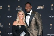 (L-R) Meghan Brock and David Johnson attend the 9th Annual NFL Honors at Adrienne Arsht Center on February 01, 2020 in Miami, Florida.