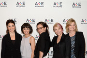 (L-R) Shiri Appleby, Constance Zimmer, Sarah Gertrude Shapiro, Marti Noxon and Carol Barbee attend the A+E Networks 2016 Television Critics Association Press Tour for UnREAL at The Langham Huntington Hotel and Spa on January 6, 2016 in Pasadena, California.